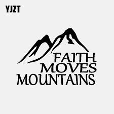 Yjzt 14 5cm 10 2cm Faith Moves Mountains Car Sticker Vinyl Decal Jesus God Christian Holy Bible Black Silver C3 1490 Car Stickers Aliexpress