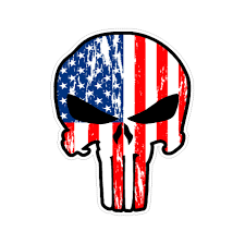 Punisher Us American Flag Vinyl Car Sticker Doggy Style Gifts