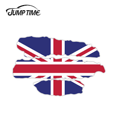 Jump Time 13cm X 8 4cm British Flag Sticker Vinyl Decal For Helmets Car Window Truck Cup Laptop Car Styling England Car Stickers Car Stickers Aliexpress