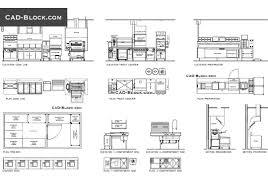 plan elevation of industrial kitchen