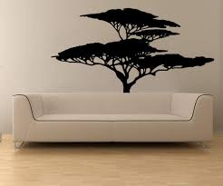 Amazon Com Stickerbrand Vinyl Wall Decal Sticker African Tree Os Mb554s Home Kitchen