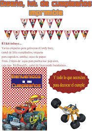 Blaze And The Monster Machines Kit Imprimible Personalizado
