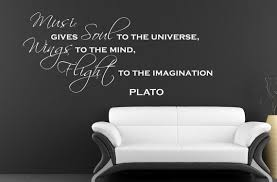 Vinyl Wall Decal Plato Quote Music Gives Soul To The Universe Wings To The Mind Flight To The Imagination 16 99 By Ets Music Quotes Plato Quotes New Quotes