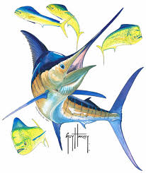 Guy Harvey Marlin Window Decal Guy Harvey Art Guy Harvey Fish Art