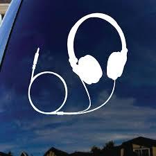 Amazon Com Socooldesign Headphones Music Silhouette Car Window Vinyl Decal Sticker 6 Tall Automotive