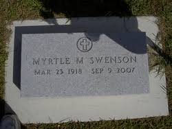 """Myrtle Matilda """"Myrt"""" Olson Swenson (1918-2007) - Find A Grave Memorial"""