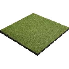 aslon rubber tile with grass 400mm