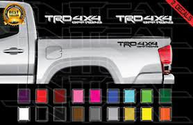 Trd 4x4 Off Road Toyota Tacoma Decal Set Truck Bed Vinyl Stickers X2 16 18 Ebay