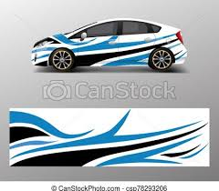 Car Decal Wrap Design Vector Graphic Abstract Shapes Racing For Vehicle Race Car Template Design Vector
