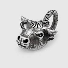 anger forest bull s head charm gucci ro