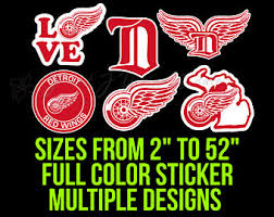 Red Wings Decal Etsy