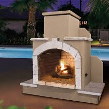 cal flame steel gas outdoor fireplace