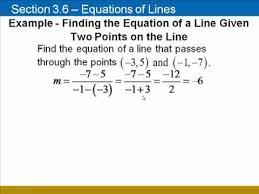 finding equations of lines using y