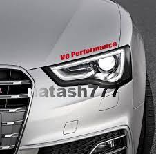 V6 Performance Vinyl Decal Sticker Emblem Logo Sport Racing Car Red Car Decals Vinyl Decals Stickers Sports Car Racing