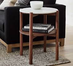bloomquist round marble end table