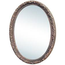 oval medicine cabinet with mirror
