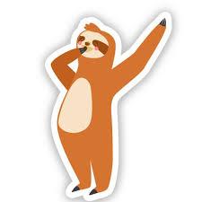 Sloth Yawning 5 Vinyl Sticker For Car Laptop I Pad Waterproof Decal Walmart Com Walmart Com