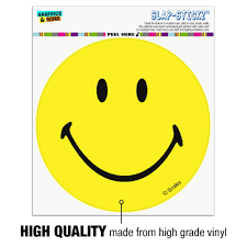 Amazon Com Graphics And More Smiley Smile Happy Yellow Face Automotive Car Window Locker Circle Bumper Sticker Automotive