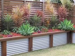 corrugated metal retaining garden