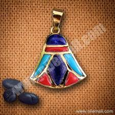 18k gold royal lotus flower pendant