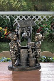 wishing well fiberglass fountain