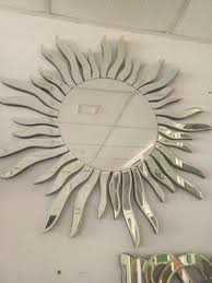 sun design glass wall mirror at rs 4600