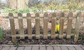 Ruddings Wood Large Wooden Picket Fencing Fence Amazon Co Uk Garden Outdoors