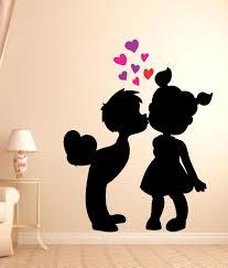 impression wall cute love wall sticker