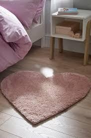 next sparkle heart rug pink