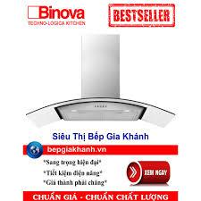 Máy hút mùi dạng kính cong 70cm Binova BI-76-ISO-07, máy hút mùi, máy hút  khói, máy hút khói khử mùi, máy hút mùi bếp