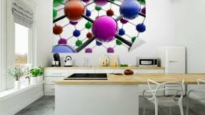 3d Atom Structure Wall Mural Pixers We Live To Change