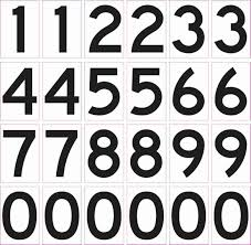 1 25in X 1 75in Mailbox Number Stickers Vinyl Number S Sign Stickers Stickertalk