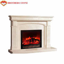 white marble fireplace surround idea