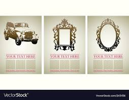car and frames royalty free vector image