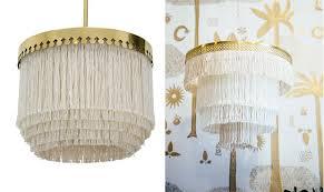 diy boho fringe chandelier with images