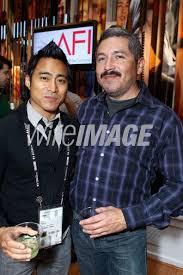 Cinematographer PJ Raval and Augie Ribles attend the AFI Reception ...