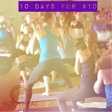 body heat hot pilates yoga closed