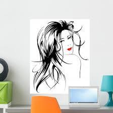 Beauty Girl Face Wall Decal Wallmonkeys Com
