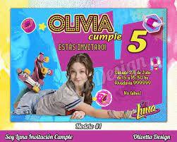 Soy Luna Invitacion Cumpleanos Imprimible Digital