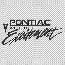 Pontiac We Build Excitement Vinyl Decal Sticker Bumper Window Firebird Fiero Ebay