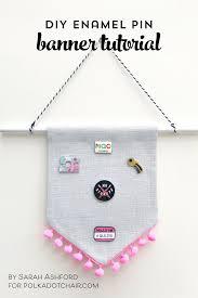 diy enamel pin banner tutorial the