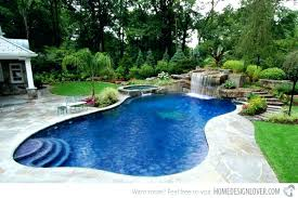 Backyard Swimming Pool Ideas Inground Pools Back Yard With Waterfalls Home Elements And Style Background Designs Fences Gates Landscape Crismatec Com