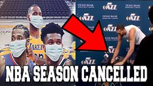 NBA GAMES ARE NOW CANCELLED ...