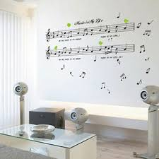 Black Music Note Removable Decal Home Room Decor Art Wall Sticker Wallpaper Diy 608763187824 Ebay