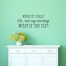 What If I Fall Wall Quotes Decal Wallquotes Com