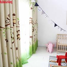 Boys Girl Cute Little Monkey Curtains And Tulle Drapes Cloth Nursery Baby Room Curtains Draperie French Blinds For Kids Window Blinds For Kids Room Curtainscurtains And Tulle Aliexpress