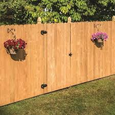 Severe Weather Actual 5 91 Ft X 8 Ft Spruce Pine Fir Dog Ear Wood Fence Panel Lowes Com Wood Fence Dog Ear Fence Fence Panels