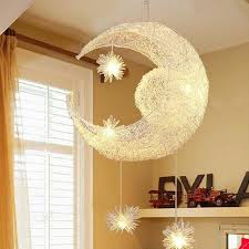 moon star hanging lights bedroom
