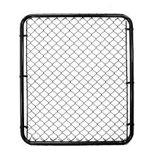 Peak Products 3 1 3 Ft W X 4 Ft H X 1 3 8 Inch D Steel Chain Link Fence Gate In Black Wi The Home Depot Canada