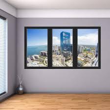Vwaq Ocean City View Wall Decal Office Window Cling Vinyl Sticker